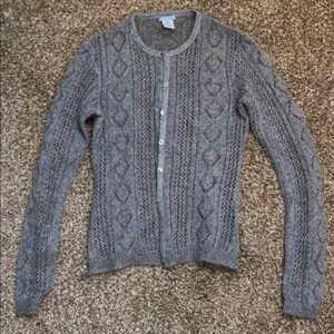 Urchin knits XS gray mohair cardigan sweater